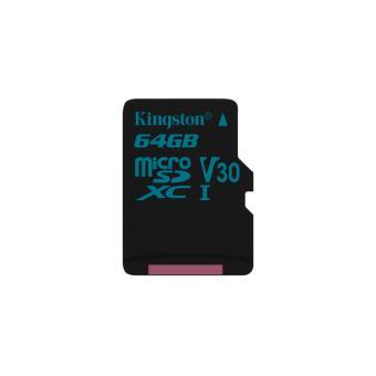cartão de memória Kingston Technology Canvas Go! 64GB MicroSDXC UHS-I Class 10  Preto