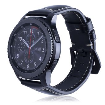 be5ad410534 Pulseira Magunivers de couro genuíno 22 milímetros universal lustroso Preto  para Samsung Gear S3 Classic Frontier etc - Bracelete Relógio - Compra na  Fnac. ...