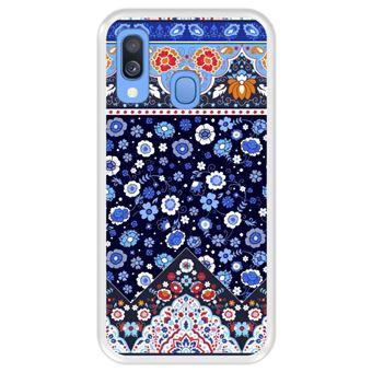 Capa Tpu Hapdey para Samsung Galaxy A40 2019 | Design Padrão Tribal de Tapete Indiano - Transparente