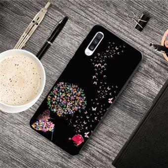 Capa Magunivers para Samsung Galaxy A50 e TPU Impressão Padrão Flor e Borboleta