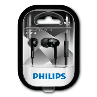 Auriculares Philips SHE1455BK/10 Preto