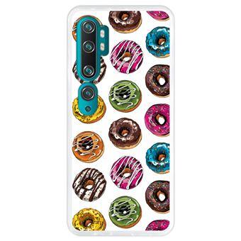 Capa Hapdey para Xiaomi Mi Note 10 - Note 10 Pro - CC9 Pro | Silicone Flexível em TPU | Design Rosquinhas de chocolate - Transparente