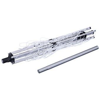 Estendal Giratório HOMCOM 50m Altura Ajustável 4 Braços Tipo Guarda-chuva Alumínio