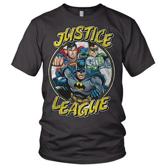 T-shirt Justice League Team | Cinzento Escuro | S