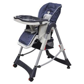 Cadeira de Refeição para Bebé Alta Vidaxl deluxe Plástico Azul 60x70 cm