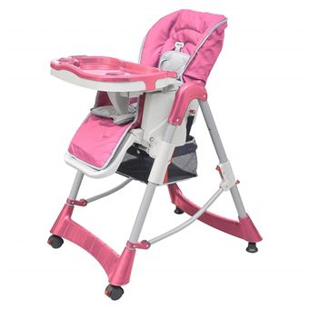 Cadeira de Refeição para Bebé Alta Vidaxl deluxe Plástico Rosa 60x74 cm