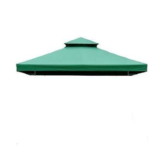 Teto de Reposição para Tenda Outsunny Poliéster Verde 3x3m