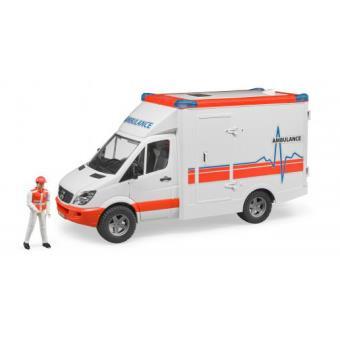 Ambulância BRUDER 02536 ABSsynthetics Multi cor