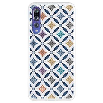 Capa Hapdey para Huawei P20 Pro - P20 Plus Design Papel de Parede Colorido em Silicone Flexível e TPU