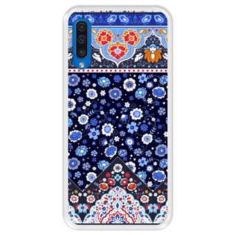 Capa Tpu Hapdey para Samsung Galaxy A50 2019 | Design Padrão Tribal de Tapete Indiano - Transparente