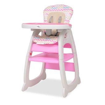 Cadeira de Refeição para Bebé Vidaxl Convertível Plástico Rosa 72x62.5 cm