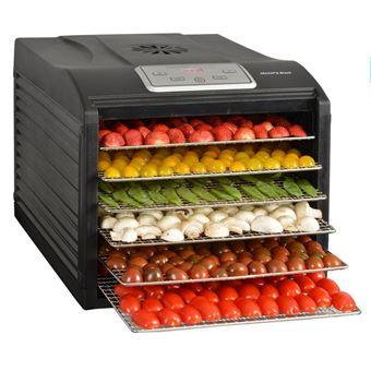 Desidratador KitchenChef SECCO6BLACK 500W Preto secador de fruta