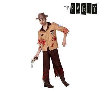 Disfarce para Adultos Th3 Party Polícia zombie M/L