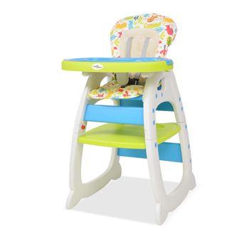 Cadeira de Refeição para Bebé Vidaxl Plástico Azul e Verde 72x62.5 cm
