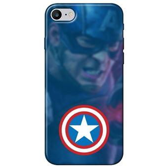 Capa Personalizada MakeUCase para iPhone 7 Capitão América SH01 Transparente