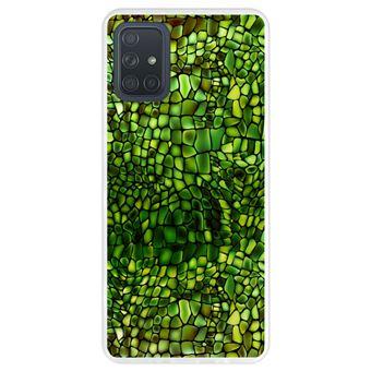 Capa Hapdey para Samsung Galaxy A71 | Silicone Flexível em TPU | Design Pele de crocodilo - Transparente