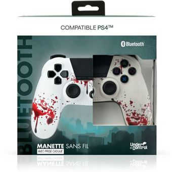 Comando Bluetooth sem Fio Undercontrol 1637 para PS4 Jack 3.5 Zombie