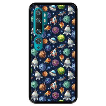 Capa Tpu Hapdey para Xiaomi Mi Note 10 - Note 10 Pro - Cc9 Pro | Design Invasão Espacial - Preto