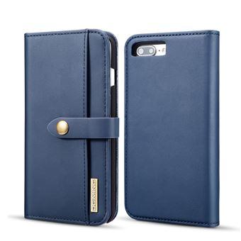 Capa PU divisão destacável 2-in-1 azul para Apple iPhone 8 Plus/7 Plus