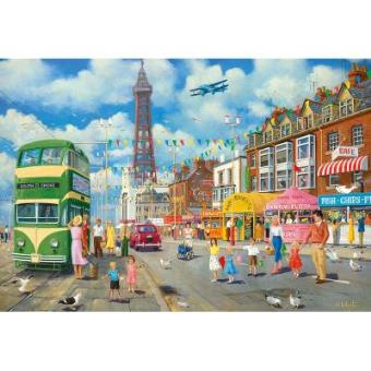Blackpool Promenade Jigsaw Puzzle 500 Pieces Gibsons Games