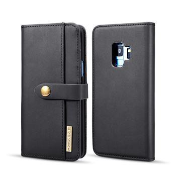 Capa PU Destacável 2-in-1 Desdobramento Preto para Samsung Galaxy S9