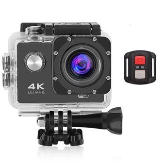 Action Cam Pro Wireless KLACK® 4K ULTRA HD com Comando Aquática Bici - Preto
