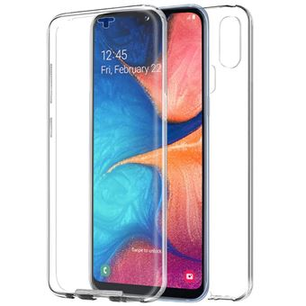 Capa Livro COOL em Silicone para 3D Samsung A202 Galaxy A20e Transparente Frontal + Traseira