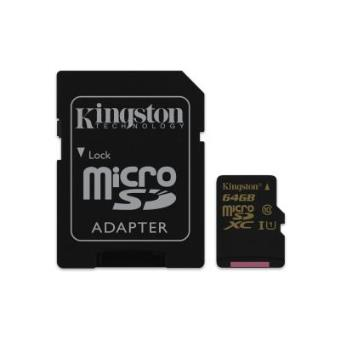 Kingston Technology microSDHC/SDXC Class 10 UHS-I 64GB