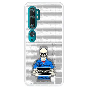 Capa Hapdey para Xiaomi Mi Note 10 - Note 10 Pro - CC9 Pro | Silicone Flexível em TPU | Design Esqueleto na prisão - Transparente
