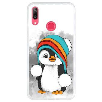 Capa Hapdey para Huawei Y7 2019 - Y7 Prime 2019 Design Pinguim Bebé em Silicone Flexível e TPU
