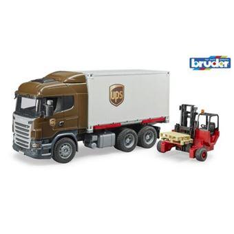 Camião de Brincar Bruder com Porta-paletes Scania R-Series UPS