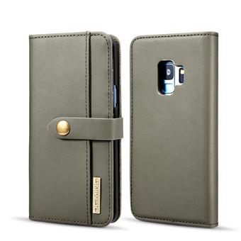 Capa PU Destacável 2-in-1 Desdobramento Verde para Samsung Galaxy S9