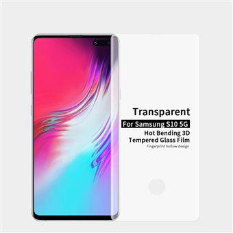 Protetor de Ecrã de Vidro Temperado 3d curvado transparente para Samsung Galaxy S10 5G