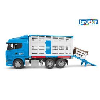 Camião de Brincar Bruder para Transporte de Gado com Figura Animal Scania