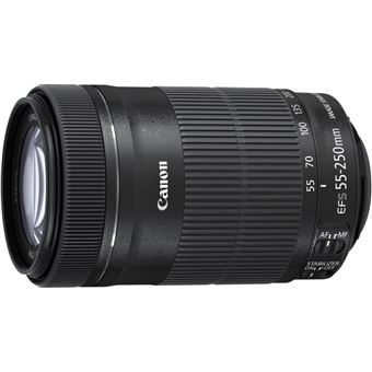 Canon EF-S 55-250mm f/4.0-5.6 IS STM + ET-63 + Lens Cloth SLR Lentes padrão Preto
