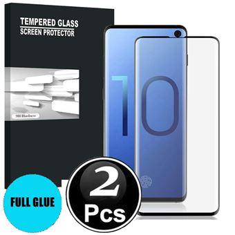 Película de Vidro Temperado para Samsung Galaxy S10 Proteção Total X2-Preto