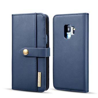 Capa PU Destacável 2-in-1 Desdobramento Azul para Samsung Galaxy S9