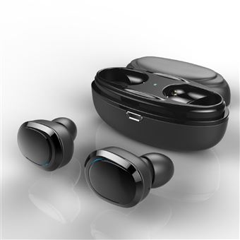 Auriculares Bluetooth Magunivers T12 TWS Binaural Wireless Headset com Microfone Preto