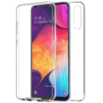 Capa Livro COOL em Silicone para 3D Samsung A505 Galaxy A50 / A30s Transparente Frontal + Traseira