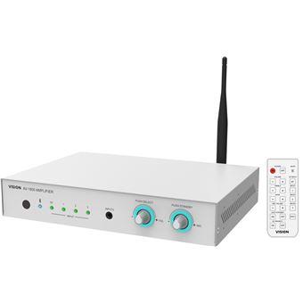 Amplificador de áudio Vision AV-1800 Casa Com fios e sem fios Branco
