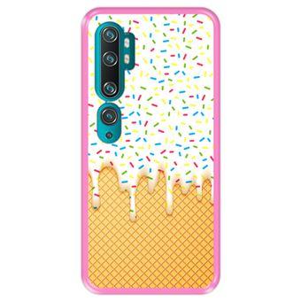 Capa Tpu Hapdey para Xiaomi Mi Note 10 - Note 10 Pro - Cc9 Pro   Design Abstrato   Casquinha de Sorvete - Rosa