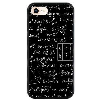 Capa Hapdey para iPhone 7 - 8 Design Quadro com Cálculos em Silicone Flexível e TPU Preto