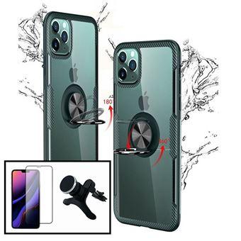 Kit Phonecare | Capa 3x1 Clear Armor + Película Vidro Temperado 5D Full Cover + Suporte Magnético Carro Reforçado iPhone X / XS