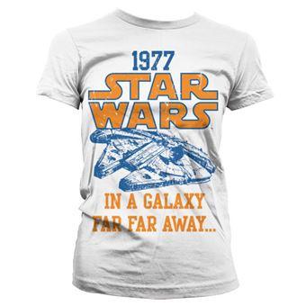 T-shirt para Mulher Star Wars 1977   Branco   XL