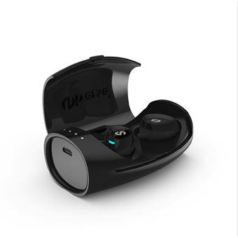 Auriculares Desporto Mini Bluetooth Magunivers ES60 TWS Headset Caixa de Carga Magnética para iPhone Samsung HTC Preto