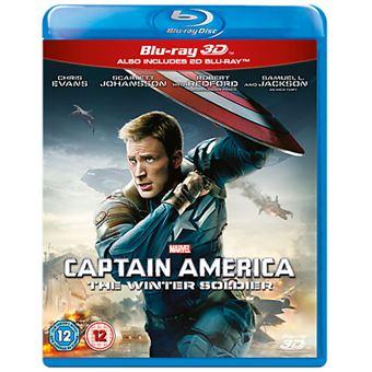 Disney Captain America: The Winter Soldier DVD 3D Inglês