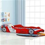Cama Infantil Carro de Corrida vidaXL | MDF | 200x90 cm - Vermelho