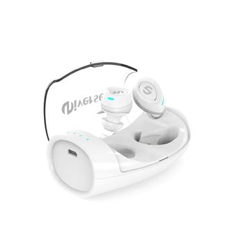 Auriculares Desporto Mini Bluetooth Magunivers ES60 TWS para iPhone Samsung HTC Branco