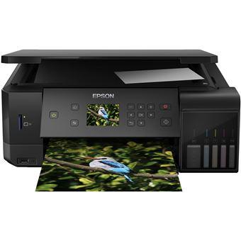 Impressora Multifunções Jacto de Tinta Epson L7160 Wi-Fi Preto