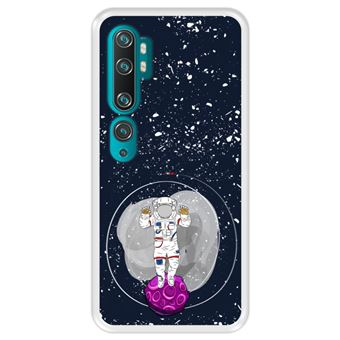 Capa Tpu Hapdey para Xiaomi Mi Note 10 - Note 10 Pro - Cc9 Pro | Design Cosmonauta No Espaço - Transparente